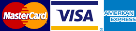 We accept Mastercard, Visa & American Express Payments